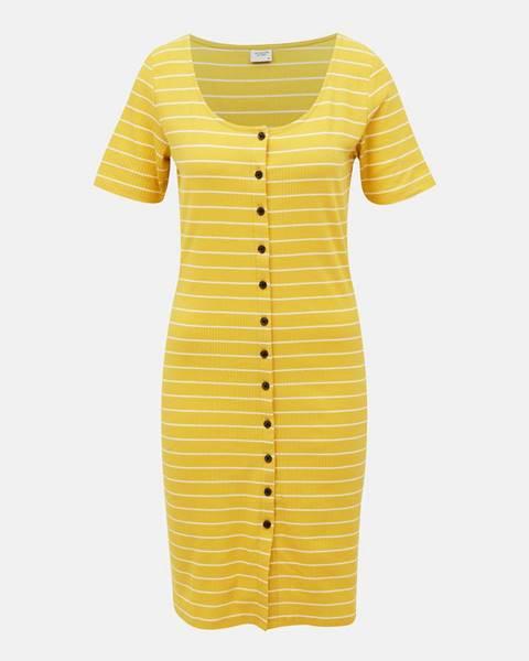 Žlté šaty Jacqueline de Yong