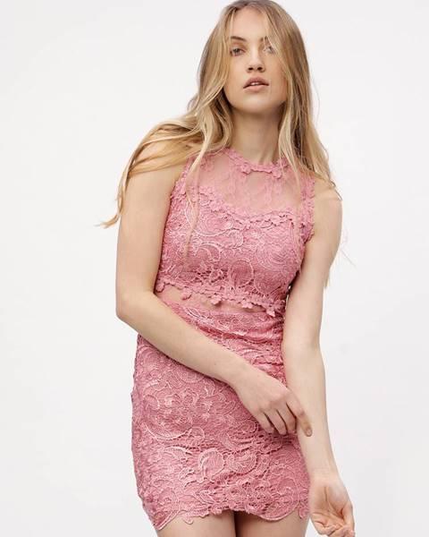 Ružové šaty MISSGUIDED