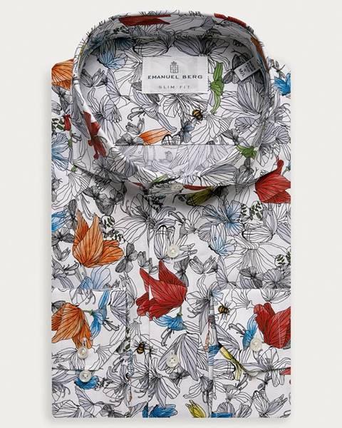 Viacfarebná košeľa Emanuel Berg