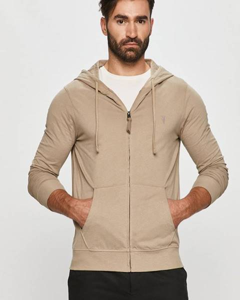 Béžová bunda s kapucňou AllSaints