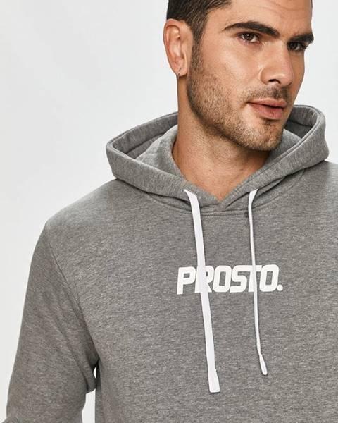 Sivá bunda s kapucňou Prosto