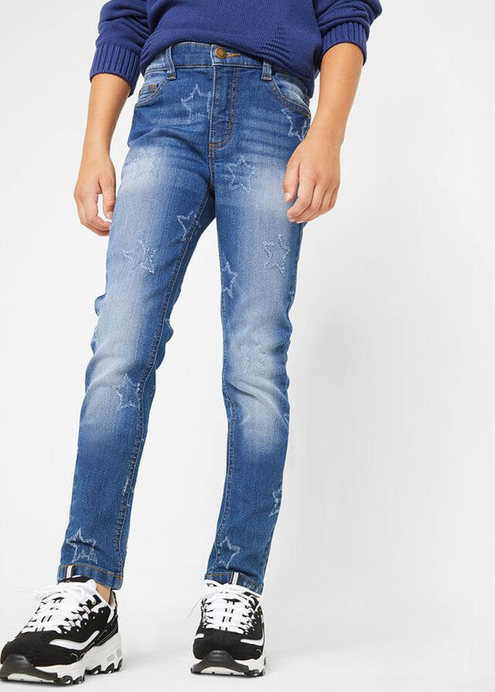bonprix Skinny džínsy s hviezdičkami