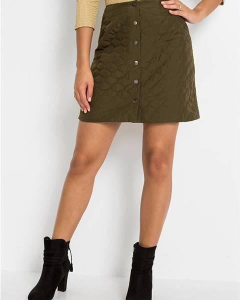 Zelená sukňa bonprix
