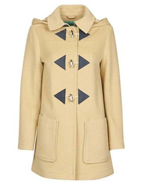 Béžový kabát Benetton