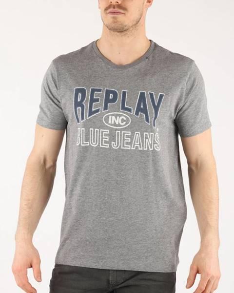 Sivé tričko Replay