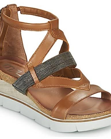 Hnedé sandále Mjus