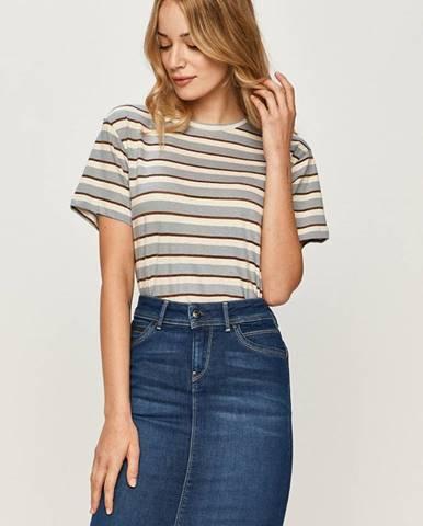 Fialové tričko Pepe jeans
