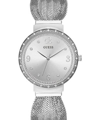 Strieborné hodinky Guess Jeans
