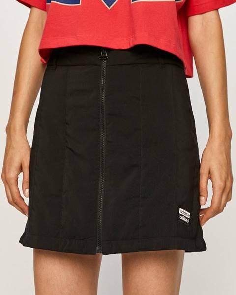 Čierna sukňa adidas Originals