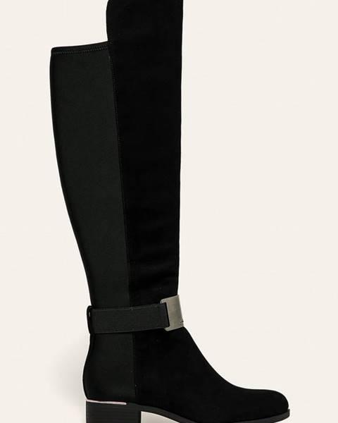 Čierne čižmy Calvin Klein