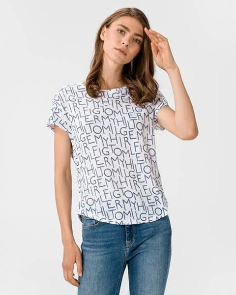 Biele tričko Tommy Hilfiger