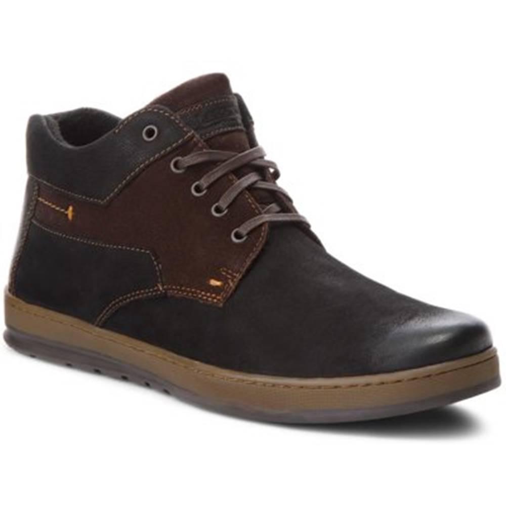 Lasocki for men Šnurovacia obuv  MB-POLON-270BIG nubuk,koža(useň) zamšová,koža(useň) lícová