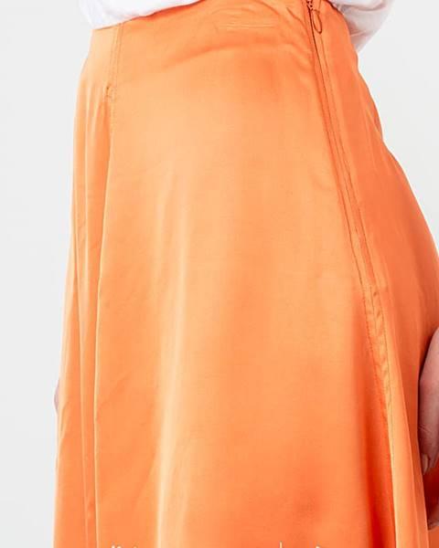 Oranžová sukňa WOOD WOOD