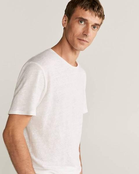 Biele tričko Mango Man