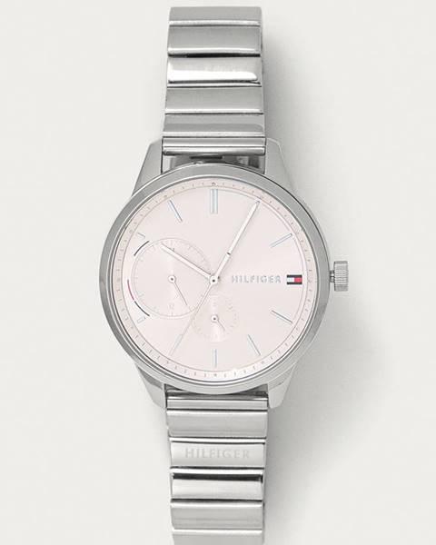 Strieborné hodinky Tommy Hilfiger