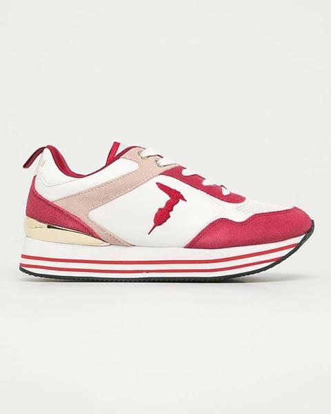 Červené topánky Trussardi Jeans