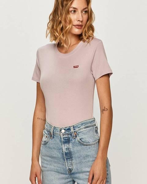 Fialové tričko Levi's
