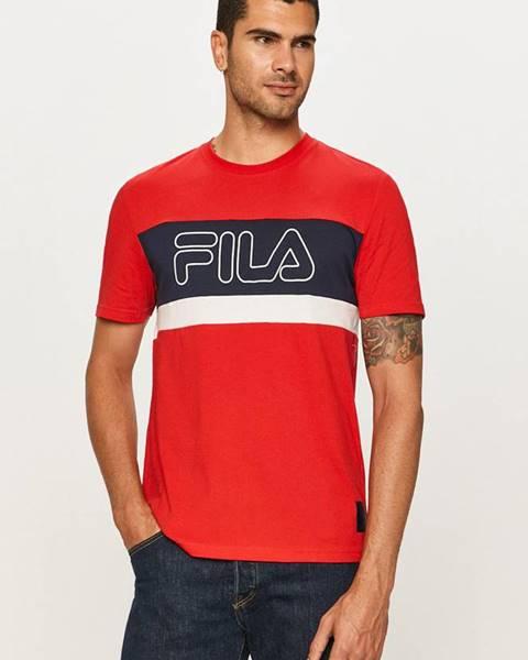 Červené tričko Fila