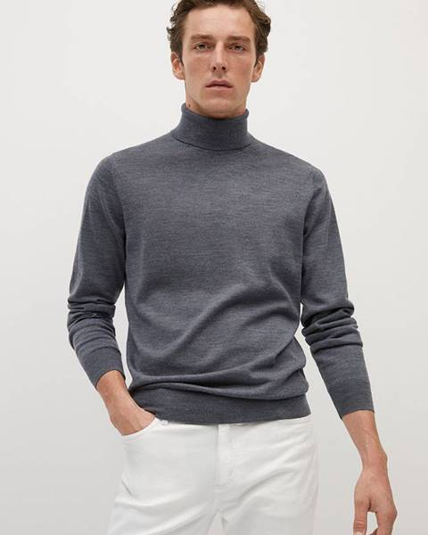 Sivý sveter Mango Man