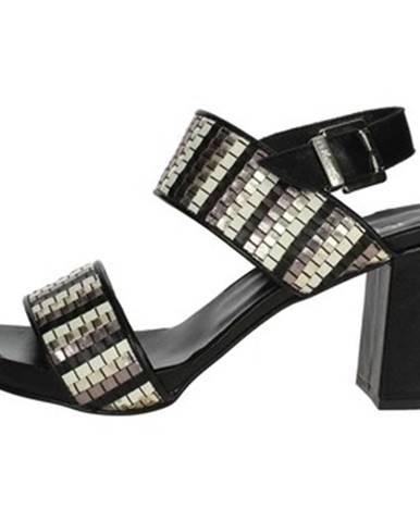 Čierne sandále Pierfrancesco Vincenti