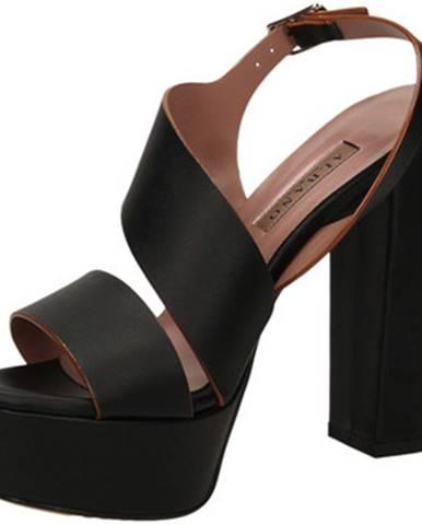 Čierne sandále Albano
