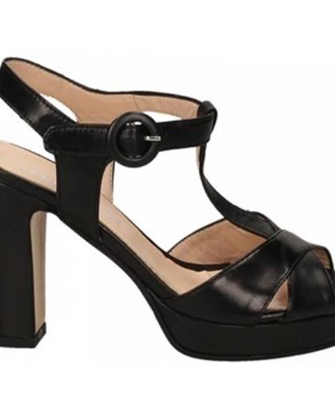 Čierne sandále Les Venues