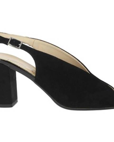 Čierne sandále Linea Uno