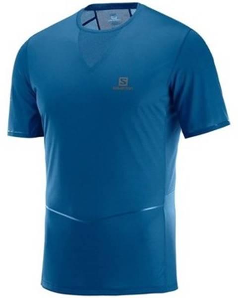 Modré tričko Salomon