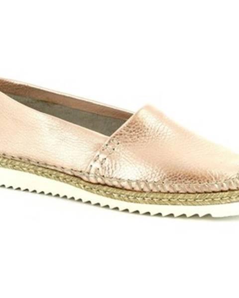 Ružové mokasíny Leonardo Shoes