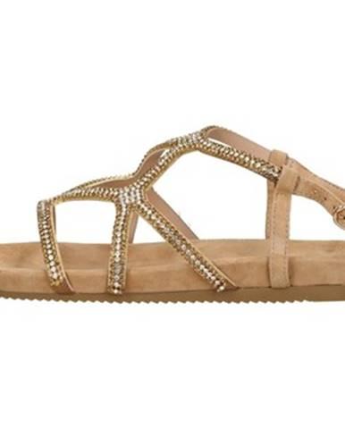 Béžové sandále Alma En Pena