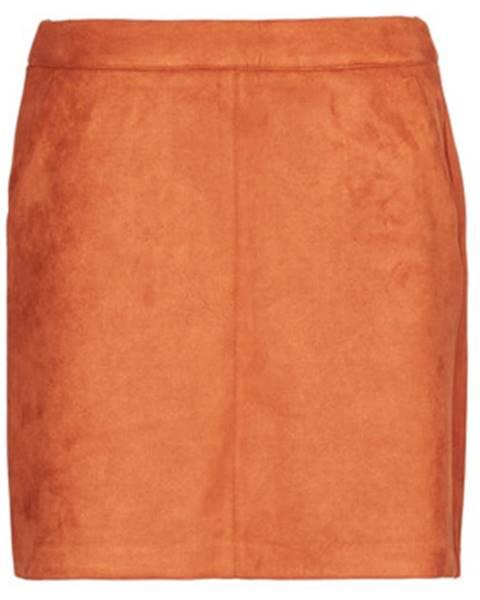 Oranžová sukňa Vero Moda