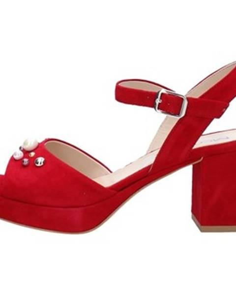 Červené sandále Mot-Cle'
