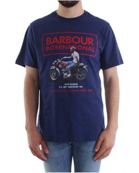 Modré tričko Barbour