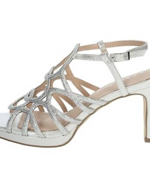 Strieborné sandále Azarey