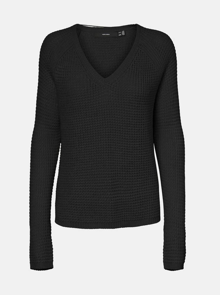 Vero Moda Čierny sveter VERO MODA Leanna
