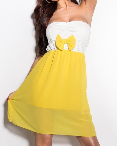 ac96b8a0e583 Dámske Mini šaty s mašličkou značky KOUCLA