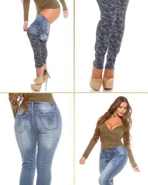 Dámske obojstranné džínsy pre moletky KouCla značky KOUCLA a0b6a8e767f