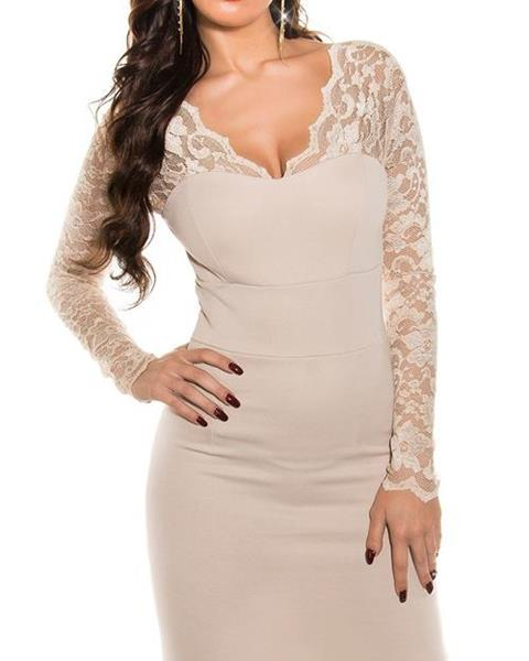 Dámske štýlové šaty s čipkou značky KOUCLA 7862c73400c