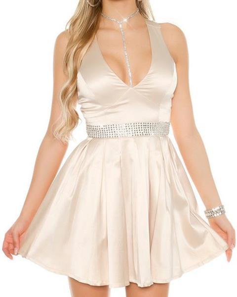 Dámske večerné mini šaty s kamienkovým pásom značky KOUCLA 5d9d9e8c870