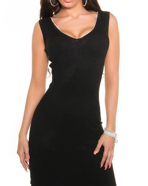 b635cb9637ea Pletené dámske šaty bez rukávov značky KOUCLA