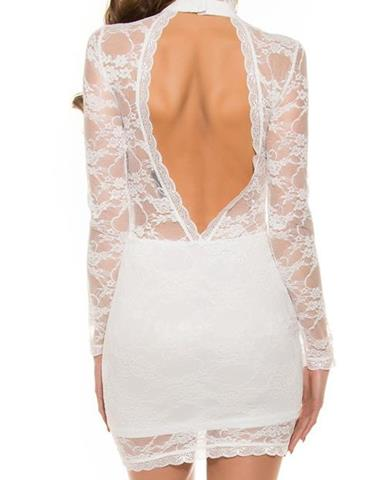 3f268a4089ad Dámske čipkované mini šaty s odhaleným chrbtom