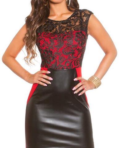 100510ee6841 Dámske šaty koženého vzhľadu