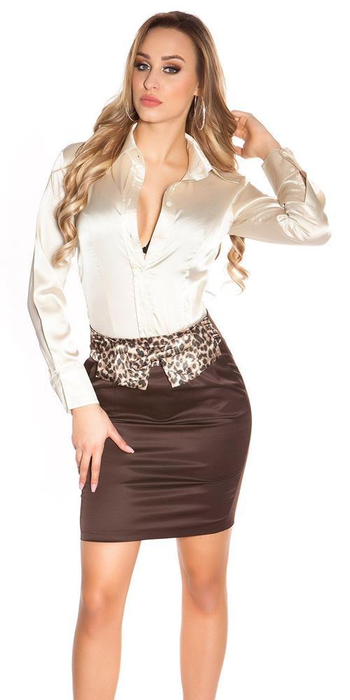 0d5e3bd8eaf4 Dámska biznis sukňa s leopardími vzormi značky IN-STYLE