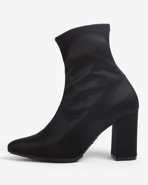 ZĽAVA 80% na Čierne členkové topánky na podpätku OJJU ffff2c843b9