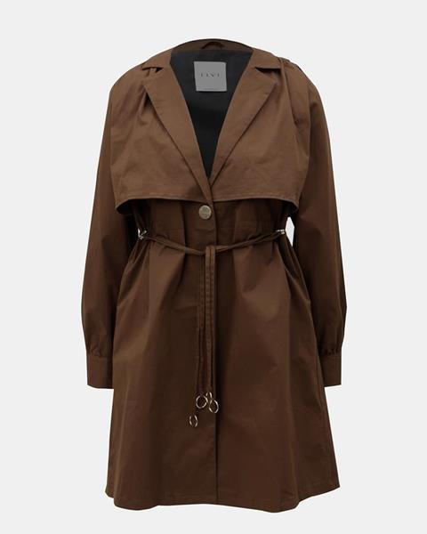 ZĽAVA 71% na Hnedý tenký kabát ELVI 6989c61cd4e