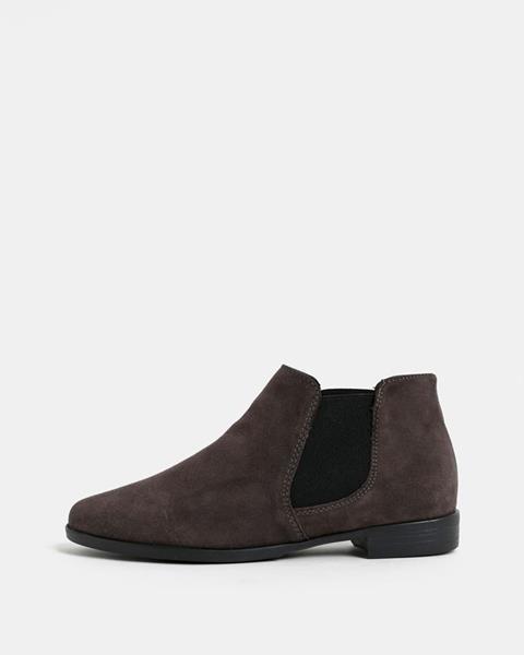 3c8f27e81d720 ZĽAVA 51% na Tmavohnedé semišové chelsea topánky Tamaris