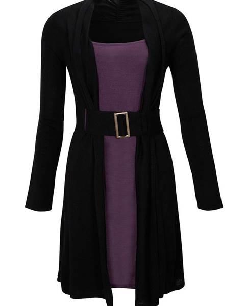 e9b87c1994f Pletené šaty s opaskom značky BODYFLIRT