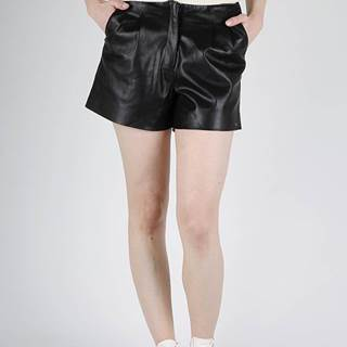 Kraťasy Superdry LILYA PLEAT LEATHER LIKE SHORT Čierna