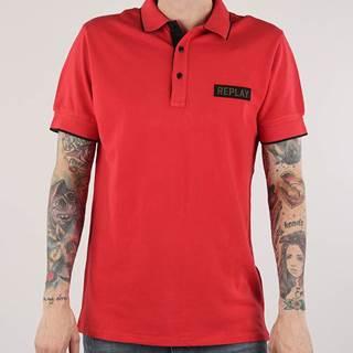 Tričko Replay M3575B Polo Červená