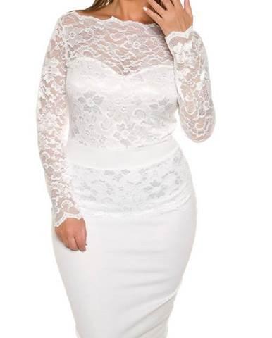 3b2a33a53d9a Dámske čipkované šaty pre moletky KouCla